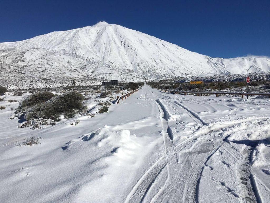 subida al Teide nevado
