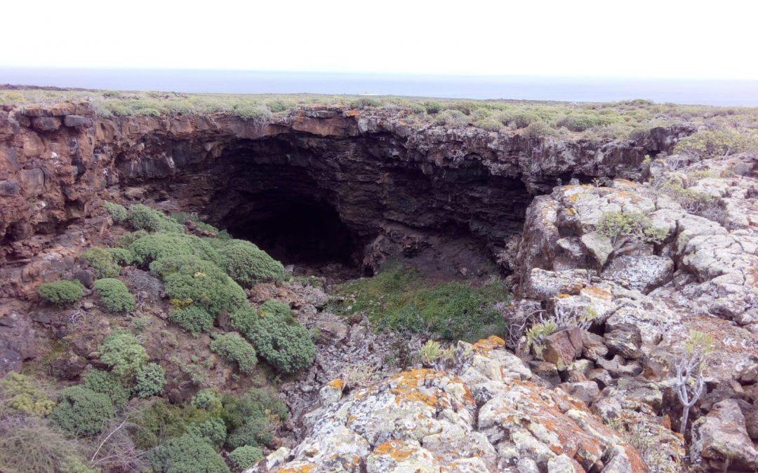 Zona de escalada Jameo puerta falsa Lanzarote