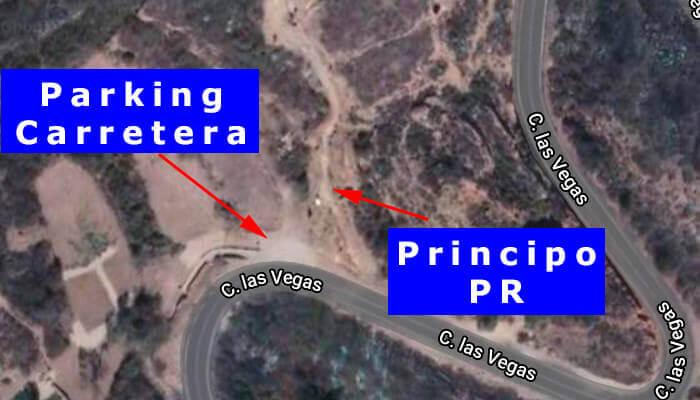 Carretera principal y PR
